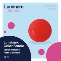 Luminarc Piring Color Studio - Temp Minerali Red Plate 320 - 2pcs