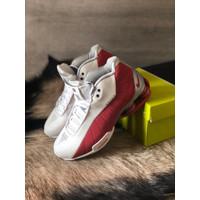 Sepatu Cowok - NIKE SHOX BB4 -White Red