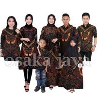 Baju Batik Keluarga sarimbit motif kupu kuning
