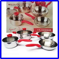 Panci Set Supra Cookware Impact Series 7Pcs Stainless Steel
