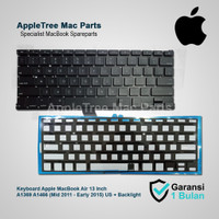 Keyboard Apple MacBook Air 13 A1369 A1466 (2011-2015) With Backlight