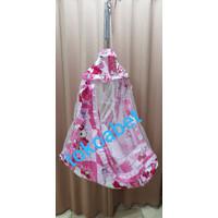 SET Ayunan Bayi karakter HK Kotak Polkadot ada kain kelambu kasur