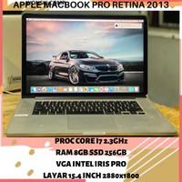 MACBOOK PRO RETINA 2013 15 INCH CORE I7 RAM 8GB SSD 256GB LAPTOP MURAH