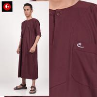 JUBAH ARABI - Pakaian Gamis Muslim Pria Lengan Pendek Warna Al-Isra