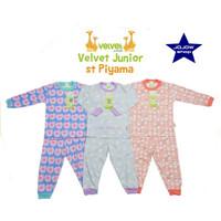 Baju tidur anak perempuan Velvet 2-10 tahun setelan panjang