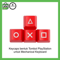 PlayStation Keycaps RED MERAH Mechanical Keyboard Backlit PS Keycap