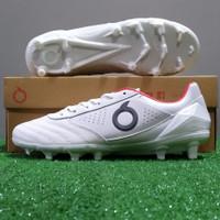 Sepatu Bola Ortuseight Forte Savage FG - White/Silver/Red - 43
