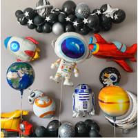 Balon Foil Space Angkasa Astronot Roket Astronaut Besar Kecil