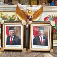 bingkai foto presiden&wakil resmi setneg&garuda