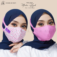 Masker Headloop Arrafi Masker Kain Hijab D Motif BolakBalik Ar Rafi