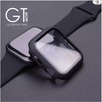 Case apple watch iwatch casing 3 4 5 cover tempered glass 2 in 1 iwo 6