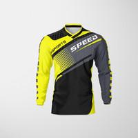 Baju Kaos Jersey Sepeda Motocross Trail Lengan Panjang Dewasa KUNING02