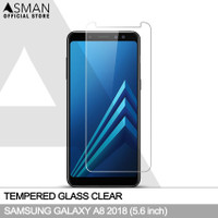 Asman Premium Tempered Glass Anti Gores for Samsung A8 2018 - Clear