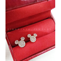 Anting Emas Anak Wanita Mickey Mouse Hello Kitty Bintang Tory Burch