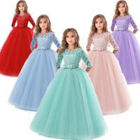 Dress pesta dress princess anak perempuan gaun baju anak impor