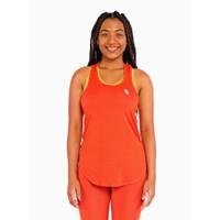 Tank Top Olahraga Wanita Hallah Activewear Simakobu Orange