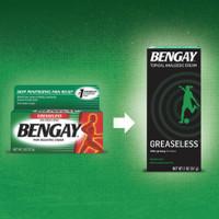 Bengay Greaseless Pain Relief Cream, 2oz