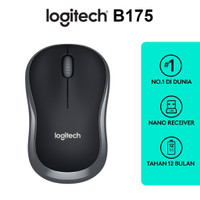 LOGITECH B175 Wireless Mouse - Black - ORIGINAL