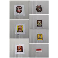 Badge SD, SMP, SMA Sablon dan Bordir serta Bendera Merah Putih Bordir