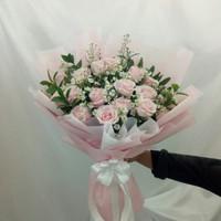Bucket bunga mawar fresh hadiah anniversary