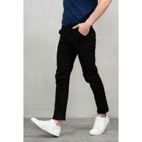 Houseofcuff Celana Chino Panjang Pria Slim fit Stretch Jeans Hitam