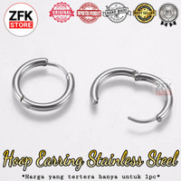anting hoop stainless steel anti karat