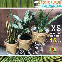 Grosir Bakul Cover Pot Purun - size XS