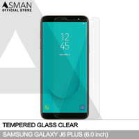 Asman Premium Tempered Glass Anti Gores for Samsung J6 Plus - Clear