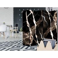 Sketsel Room Divider Pembatas Ruangan Partisi Lipat - Black Ivory - 4Panel Lebar160