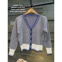 Outer Cardigan IMPORT Knit Rajut Wanita Baju Outwear Cewek LVR007