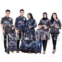 Baju batik keluarga sarimbit motif mega mendung ungu