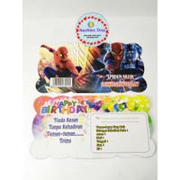 Kartu Undangan Spiderman 10pcs/ Undangan Ulang Tahun/ Invitation Cards