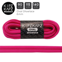 KipzKapz OS3 Hot Pink 90cm 115cm 140cm Tali Sepatu Oval Shoelace