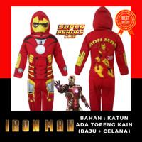 Baju Kostum Anak Cowok Superhero Iron Man