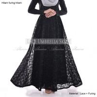 Rok Panjang Muslimah Modern Murah Lace Umbrella Skirt