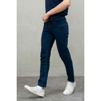 Celana Denim slim fit Panjang Jeans biru navy dawn strech - 27