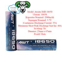 Battery AWT BLUE 18650 2900MAH 40A BATTERY BATERAI VAPE 2900 mAh
