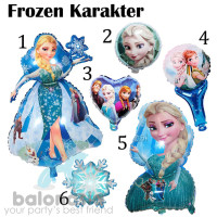 Balonasia 6pcs Balon Frozen Karakter / Mainan Frozen