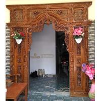 Kusen Pintu Gebyok Jati Motif Jawa, Pintu Rumah Kayu Jati
