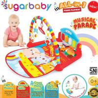 Sugar baby piano play mat/matras main bayi/RED