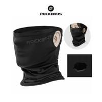 Rockbros WB003 Face Mask Scarf Bandana Ice - Masker Sport Sepeda Black