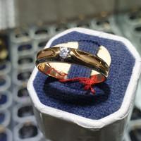 cincin ring emas mata satu dof putih