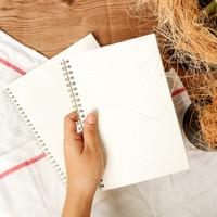 Buku Notebook kertas Grid Kotak A5-B5 Kraft Cover Spiral Grid Notebook