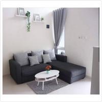 set sofa l santai + meja oval