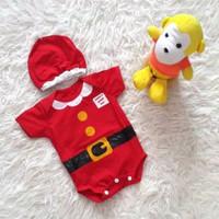 Baju Bayi Anak Santa Natal Christmas Newborn Baby Jumper Sinterklas