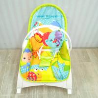 rocking chair baby portable rightstart/kursi ayun bayi/blue safari
