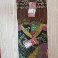 Baju muslim batik koko pendek panjang almia al mia al-mia ori obral