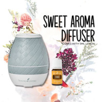 Young Living Sweet Aroma Diffuser + 5ml Lemon Essential Oil