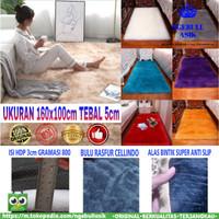 Karpet Bulu Rasfur / Tikar Bulu Lembut Halus UK 160x100 Tebal ±5cm