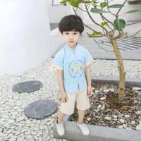 Qipao anak baju setelan anak laki laki imlek cowok